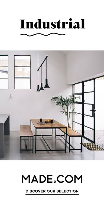 You don't have to live in a loft to get the industrial look. In fact, industrial 2.0 is all about adding unexpected pops of colour to create an upbeat, retro feel. Put the fun back to functional.