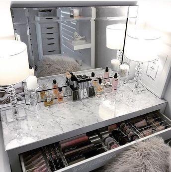 ORIGINAL VANITY DECALS: 10 Makeup Vanity Decals (Organizer not included)