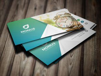 Clock Modern Business Card Design Template - Graphic Templates