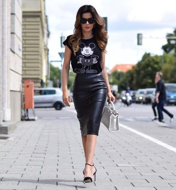 40 Leather Pencil Skirt Outfits That'll Make You Want A Leather Skirt