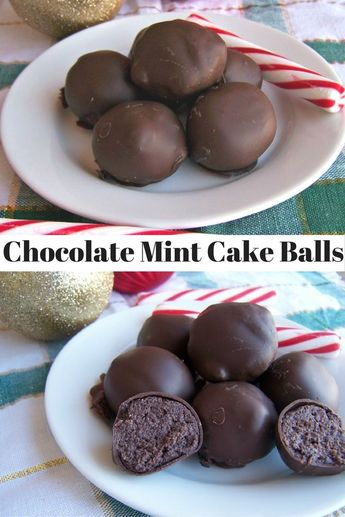 Chocolate Mint Cake Balls
