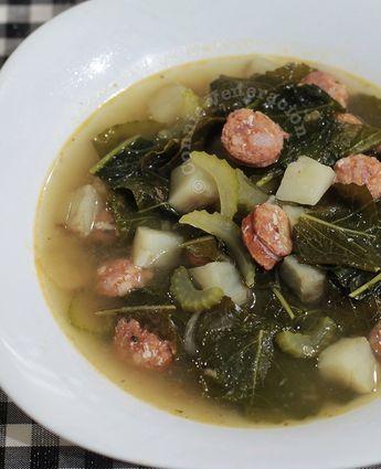 Kale, Sweet Potato and Sausage Soup