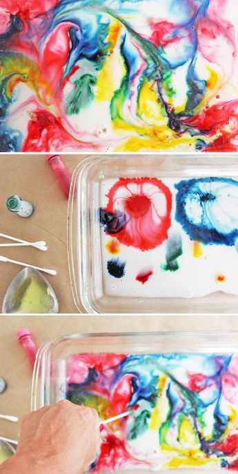 Science & Art for Kids: Marbled Milk Paper - Babble Dabble Do