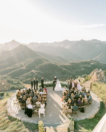 Guests Were Blown Away by the Ceremony Space at This Formal California Wedding