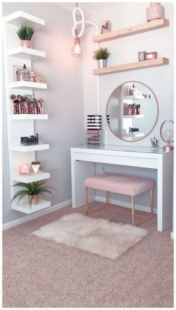 Vanities, you already know these small table-cum-cabinets with the mirror on high, and benches or chairs to match, are indispensable to ladies' bedroo... ,  #bedroom #design #idea #vanity