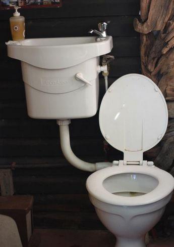 toilet uses basin water