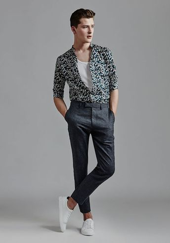 Today's Look: Patterned Shirt. Photo: Reiss. #ootd #menswear #mensfashion #mensstyle #instafashion #patternedshirt