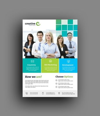 Oslo Clean Professional Business Flyer Template - Graphic Templates