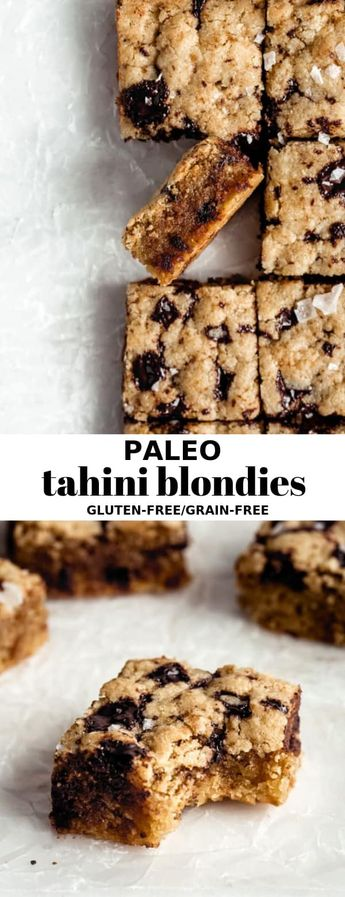 Paleo Tahini Blondies