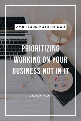 Do you have a hard time prioritizing working on your business? In this episode of Ambitious Motherhood Podcast, Katie dives into how to begin to prioritize working on your business not just in it, a glimpse into what her weekly planning time looks like and ways to begin implementing and prioritizing now, not once a certain client count or income level comes.