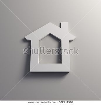 White House on the Wall. 3D Rendering Illustration