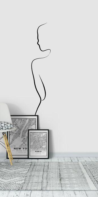 Ava Begins Wall Mural / Wallpaper Art