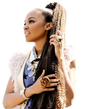 Disney Actress And Singer China Mcclain Wearing Jenny Dayco Rings And Necklaces In Thrifty Hunter Magazine