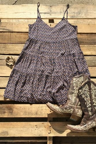 Cold Cold Heart Dress - Blue