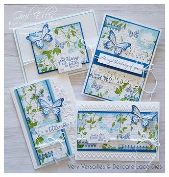 Blue Rose Paper Treasures: Very Versailles Lace Cards