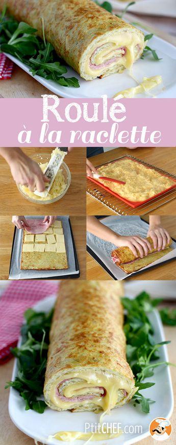 Roulé de pommes de terre à la raclette de savoie et au jambon