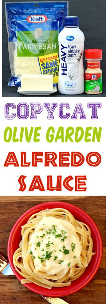 Olive Garden Alfredo Sauce Recipe Easy Copycat Recipes!  You won't believe how simple and quick it is to make your favorite sauce at home.  Give it a try this week!