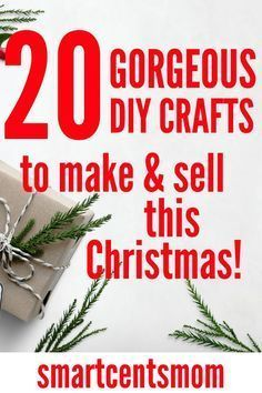 Check out these easy diy crafts to make and sell during the holidays at craft fairs or on Etsy. This is a fun way to make extra money selling crafts. #diy #christmas