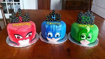 7e20e87529 35 Torte dei PJ Masks Super Pigiamini in Pasta di Zucchero (PDZ)