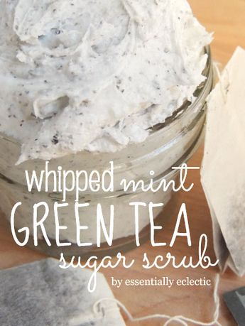Recipe: Mint & Green Tea Sugar Scrub