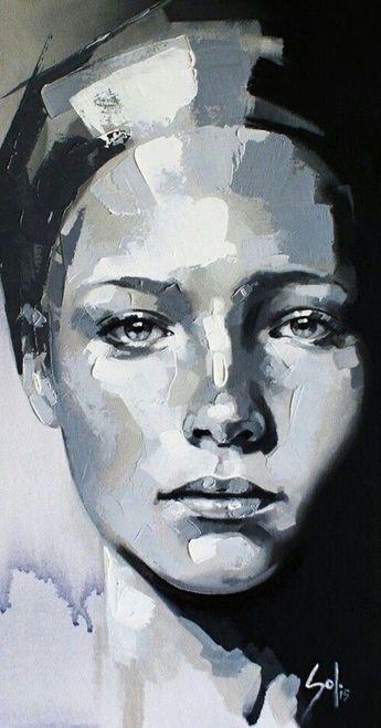 Portrait painting - 40 Beautiful Acrylic Portrait Paintings Ideas