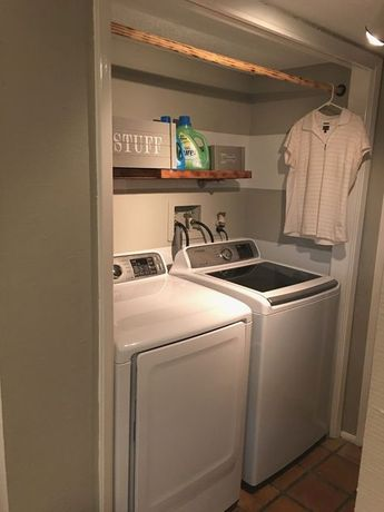27 Best Laundry Room Shelf Ideas with Hanging Rod for Small Space