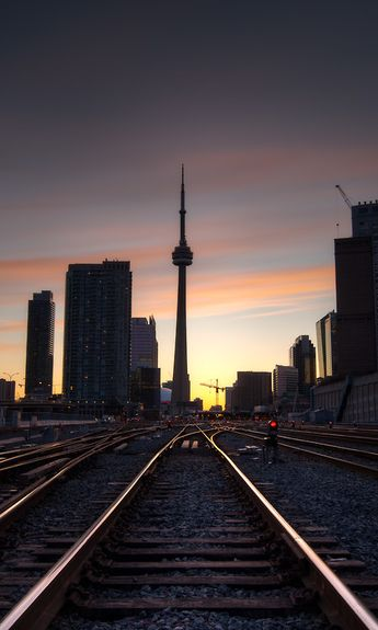 The CN Tower | Toronto ON, Canada | With Railway tracks.