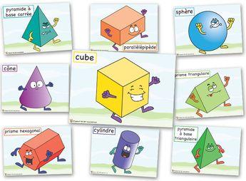 Les solides et leurs patrons (formes en 3D)