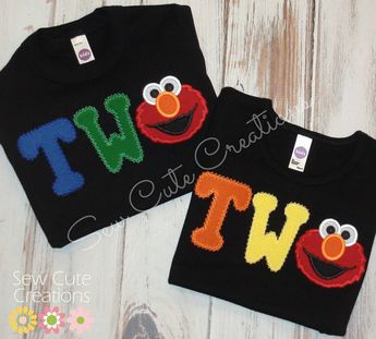 Elmo Birthday Shirt Two Second With 2nd