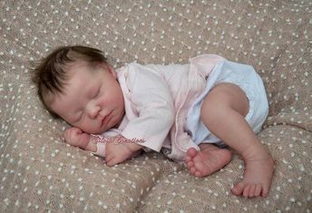 CUSTOM ORDER Reborn Doll Baby Girl or boy Realborn® Sleeping Zuri Full Limbs 19 Inches 4-6 lbs You Choose All Details Layaway Available