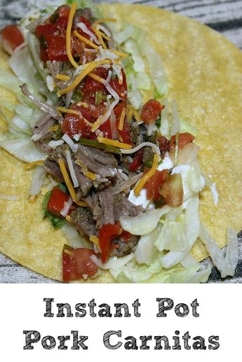 These Instant Pot Pork Tacos are sure to be a hit with your Taco Tuesday!! Quick and easy to make the whole family will love this easy frugal dinner! #tacotuesday