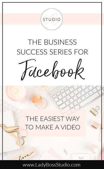 Make a Facebook Video without actually making a Video | Lady Boss Studio
