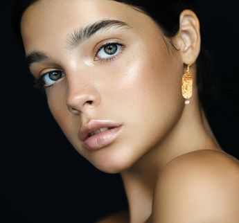 Hammered NuGold With Freshwater Pearl Earrings Minimalist Artisan Wear Handmade Metal Jewelry 21st Anniversary Gift Women Fashion Handmade
