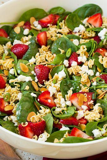Strawberry Crunch Spinach Salad