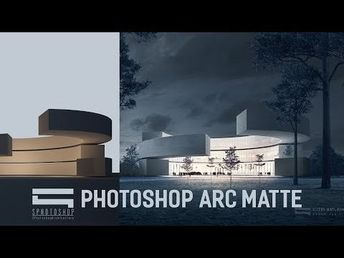 Matte Painting for Architecture - Photoshop Architecture - YouTube
