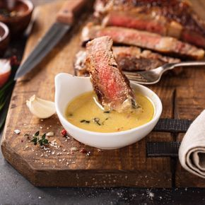 """""""Oh My!"""" Steak Sauce: my favorite secret family recipe for the best flavored buttery steak sauce! This steak sauce is gluten free, low carb and keto approved! #LowCarb #Keto #glutenfree #steak #ketorecipes #lowcarbrecipes #SteakSauce"""