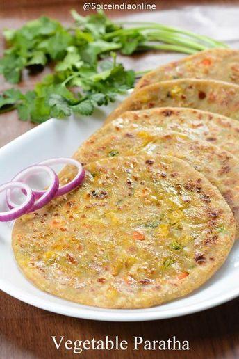 pizza - MIXED VEGETABLE PARATHA RECIPE Vegetable Paratha Recipe Stuffed Paratha — Spiceindiaonline