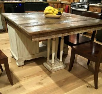 How to Turn Buffet to Rustic Kitchen Island DIY