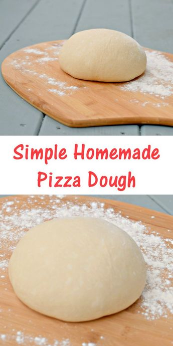 Simple homemade pizza dough recipe for easy peasy pizza nights at home. Dairy free and easy to make with a stand mixer or by hand. Easy freezer tips to make ahead for later, too.