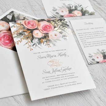 Ethereal Garden - Foil Invitation