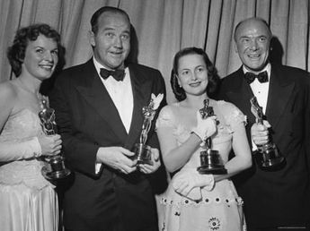 Oscar Winners Mercedes McCambridge and Dean Jagger During 22nd Annual Academy Awards Premium Photographic Print by Ed Clark | Art.com
