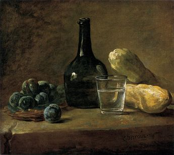Still Life With Plums by Jean-baptiste-Simeon Chardin