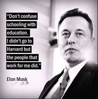A true inspiration and correct remark on the modern education system