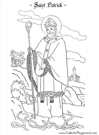 Saint Monica and Saint Augustine Catholic coloring page (F