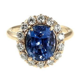 Tiffany and Co. Sapphire Diamond Ring