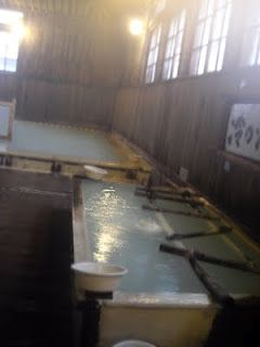 """Sukayu Onsen, Aomori  300 year old Onsen. High sulfur content. Mixed bathing, but they have """"ladies hour"""" from 8 - 9 every night, when it's ladies only in the big bath hall."""
