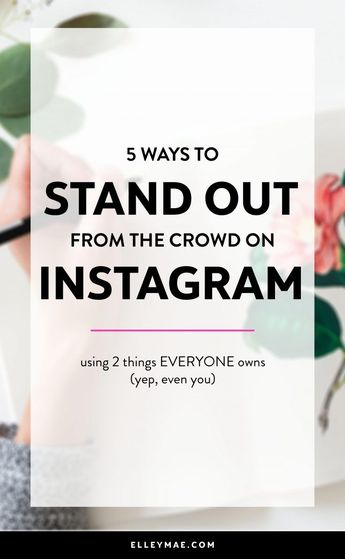 5 Ways to Purposefully Stand Out On Instagram   Are you ready to finally start making a difference on Instagram? Well girl, this post is for you. Learn how to infuse personality into all you do online & become a stand out influence on Instagram in no time at all. Learn more at ElleyMae.com   Instagram Tips, Instagram Ideas, Instagram Captions, Instagram Themes, Grow Your Instagram #InstagramInfluencer #InstagramTips #InstagramIdeas #LiveWithPassion