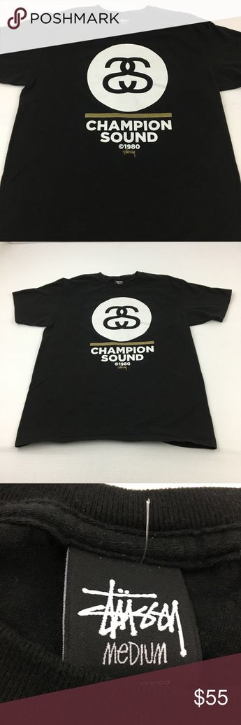 d340270259e8 Stussy Champion Sound Tee Graphic T Shirt Rap M Good overall condition. Pre- loved