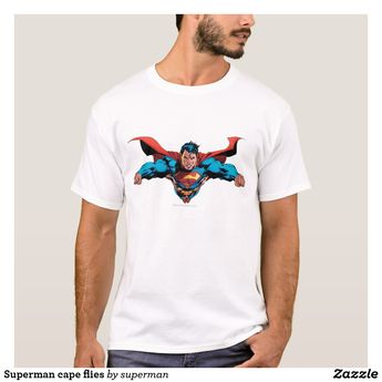 Superman cape flies T-Shirt | Zazzle.com