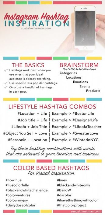 Instagram is all about the Hashtags. Are you looking for a quick number of hashtags to keep it fresh look no further. Great Resource form SuebZimmerman who is the Instagram Expert on Instagram.